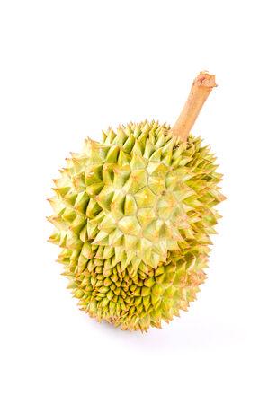 Durian fruit isolated white background photo
