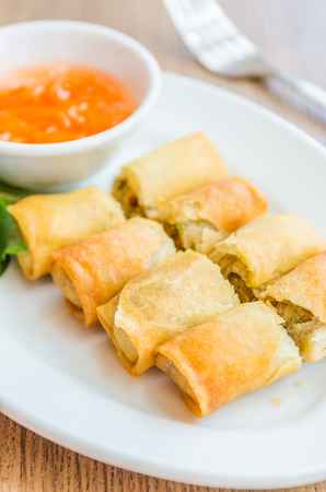 Fried Spring rolls photo