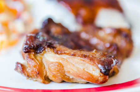 Grill chicken with rice photo