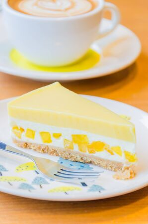 Mango cheesecake photo