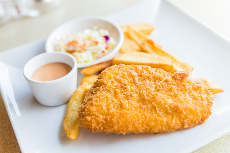 chunky: Fish and chips Stock Photo
