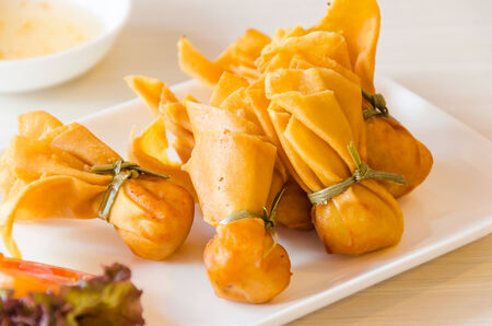 appetiser: Toong thong Stock Photo