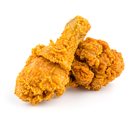 Fried chicken isolated white background photo
