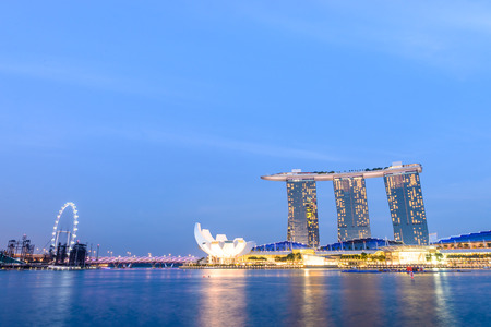 Singapore skyline\