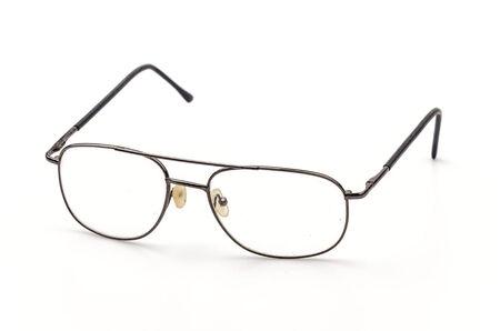 Eyeglasses isolated white background photo