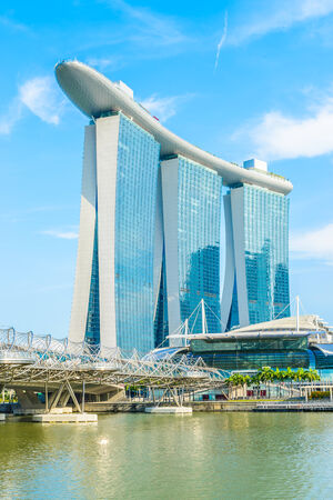 standalone: SINGAPORE-JUNE 24: The Marina Bay Sands Resort Hotel in Singapore. It is an integrated resort and the worlds most expensive standalone casino property at S$8 billion.