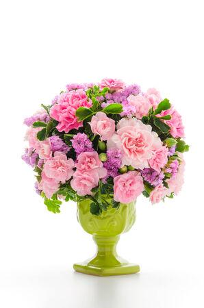 flower vase: Bouquet isolated on white Stock Photo