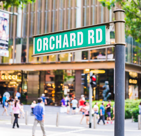 street sign that read  Orchard Road Editorial