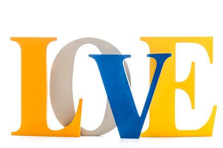 Love word background Stock Photo