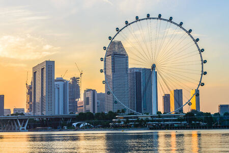 SINGAPORE - JUNE 23: At a height of 165m, Singapore Flyer is the largest Giant Observation Wheel in the world.