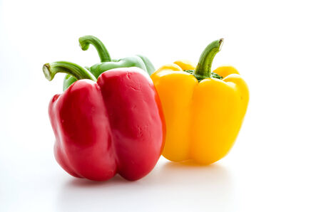 bell peper: Peppers isolated on white Stock Photo