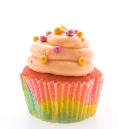 cupcakes isolated: Colorful cupcakes isolated on white