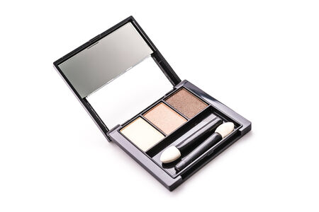Eye shadow cosmetic isolated on white background photo