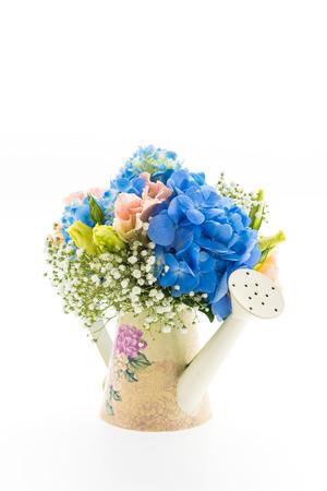 bouquet flower Hydrangea isolated on white photo