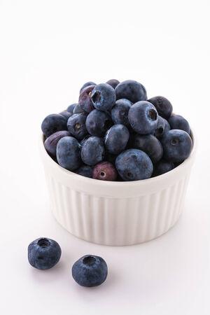Blueberry isolated on white photo