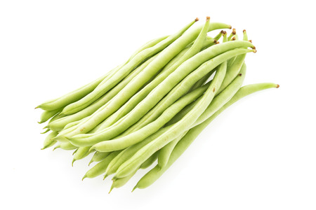 long beans: cowpea isolated on white background