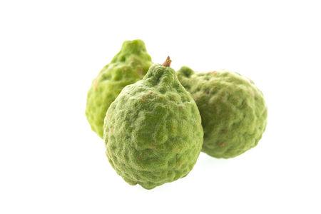 kaffir lime isolated on white background photo