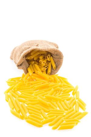 Pasta isolated on white background photo