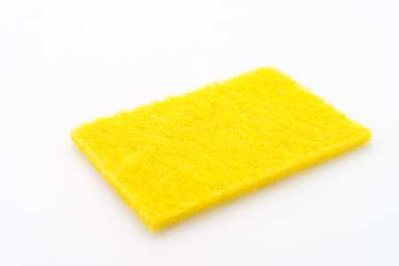 scouring: Scouring pad isolated on white background Stock Photo