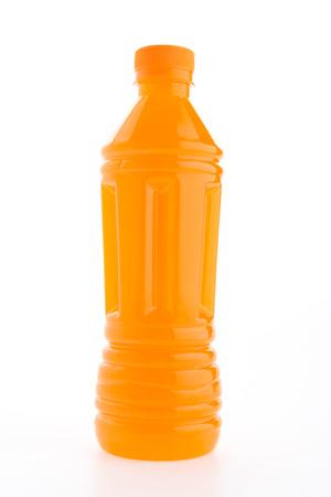 juice bottle: Orange juice bottle isolated on white background Stock Photo
