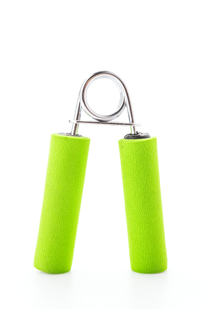 grip: Sport hand grip equipment isolated on white