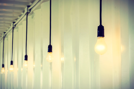 lighting fixtures: Electric lamp process vintage effect style picture Stock Photo