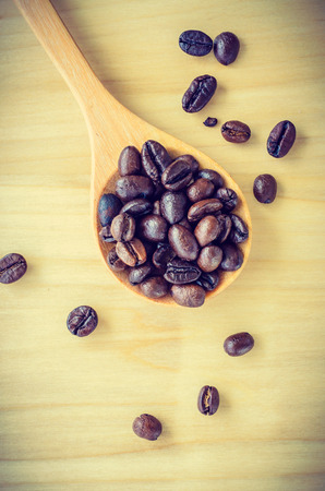 Coffee beans process vintage effect style picture photo