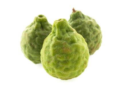 balsam: kaffir lime isolated on white background Stock Photo