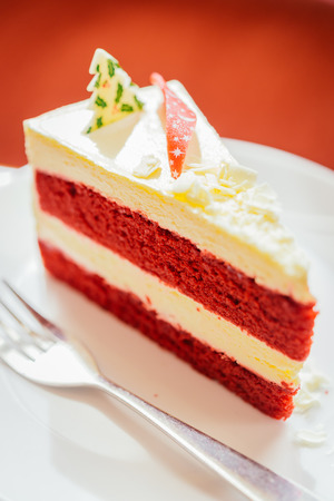 Christmas Red velvet cake - vintage effect style pictures photo
