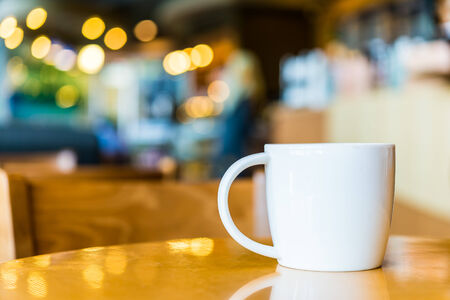 coffee shops: Coffee cup in coffee shop