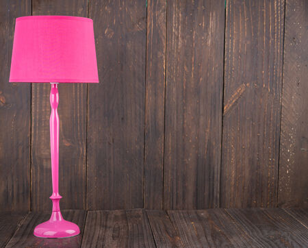 Lamp on wood - vintage effect style photo