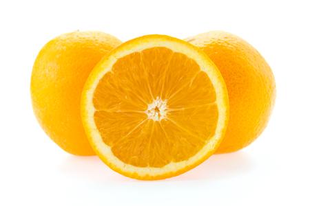 navel orange: Orange isolated on white