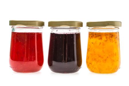 jam jar: Jam jar isolated on white background