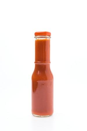 sauce bottle: Sauce bottle isolated on white