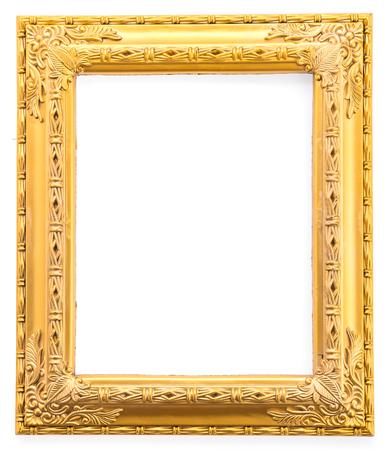 Gold frame isolated on white background