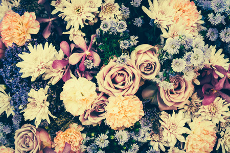 background photo: Vintage old flower backgrounds - vintage effect style pictures Stock Photo