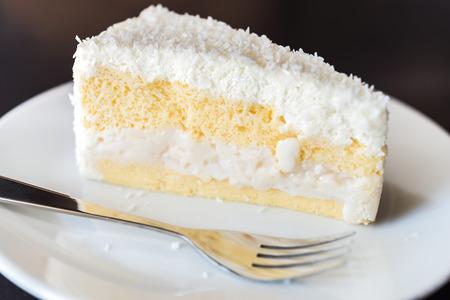 slice of cake: Coconut cake