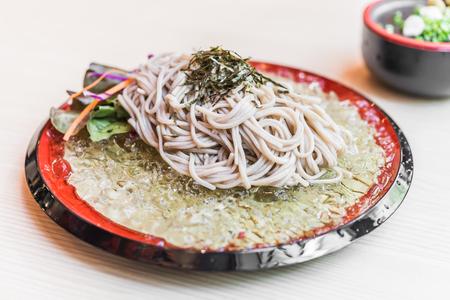 soba noodles: Zaru Soba noodles - japanese food