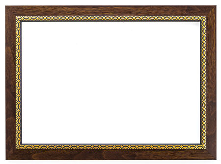 wooden frame: Wooden frame isolated on white background Stock Photo