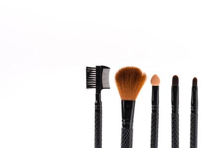 make up brush: Make up brush isolated on white Stock Photo