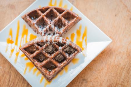 Chocolate waffle photo