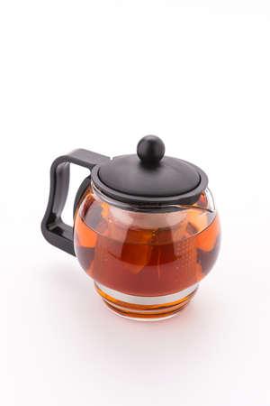 Tea pot isolated on white background photo