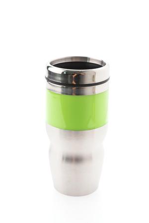 thermos: Thermos coffee mug isolated on white