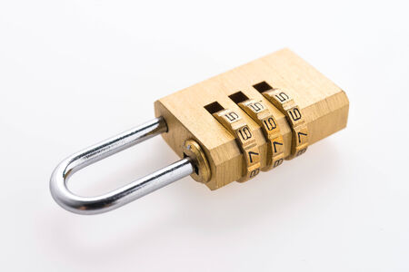 pad lock: Pad lock isolated on white background