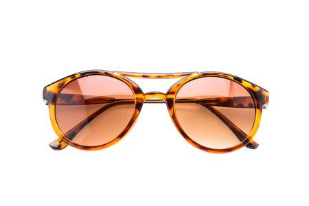 sunglasses reflection: Sunglasses isolated on white Stock Photo