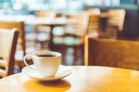 Kaffeetasse im Kaffee Shop - Vintage-Effekt-Stil Bilder