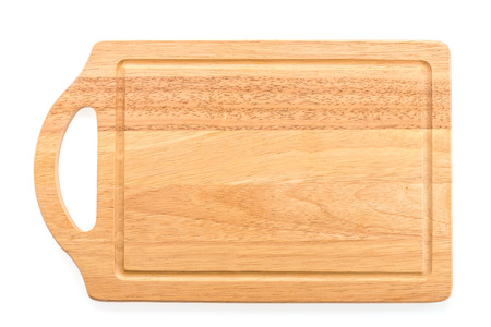 Wood cutting board isolated on white background