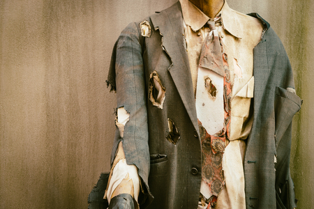 face zombie: Business zombie - vintage effect