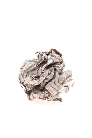 crumbled: Crumbled paper isolated on white background