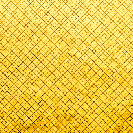 mosaic wall: Gold mosaic tiles background Stock Photo